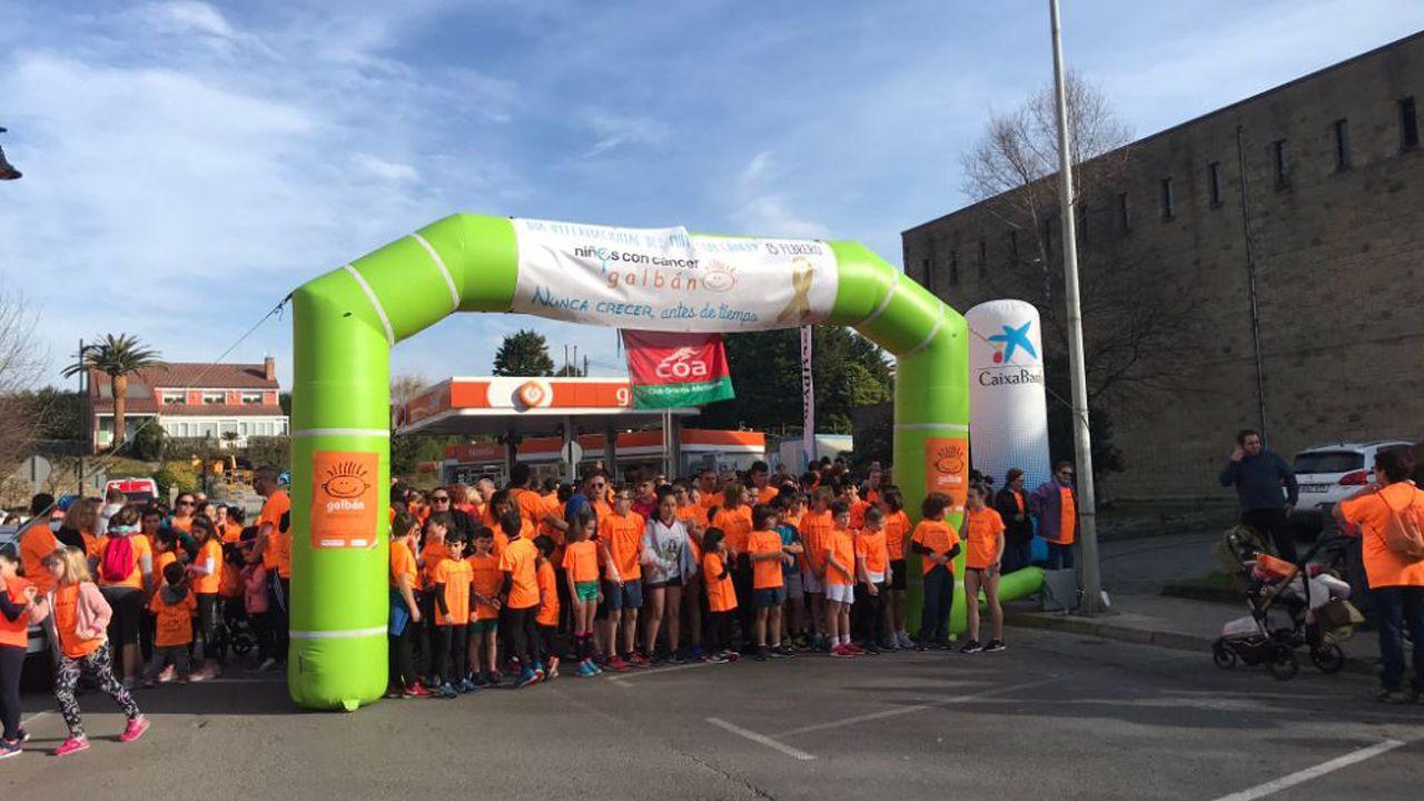 Salida en la carrera Galbán contra el cáncer infantil en Llanes