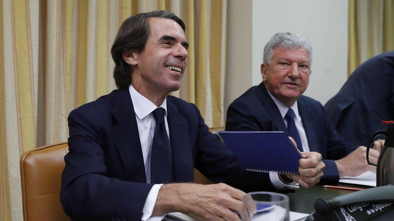 Los momentos más tensos entre Aznar, Rufián y Simancas.José Maria Aznar