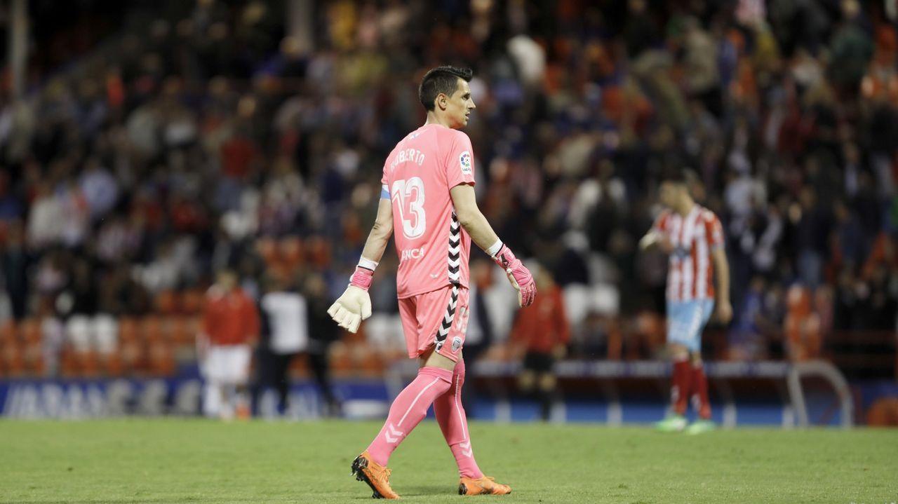 Roberto Fernández en su último partido como profesional, en 2018