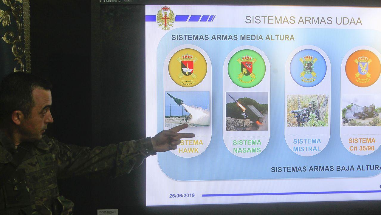 Al mando, el Teniente Coronel de Artillería Santiago Serantes Vergara