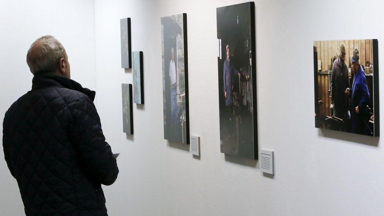 Intervención artística con motivo del 40 aniversario del Museo do Pobo Galego