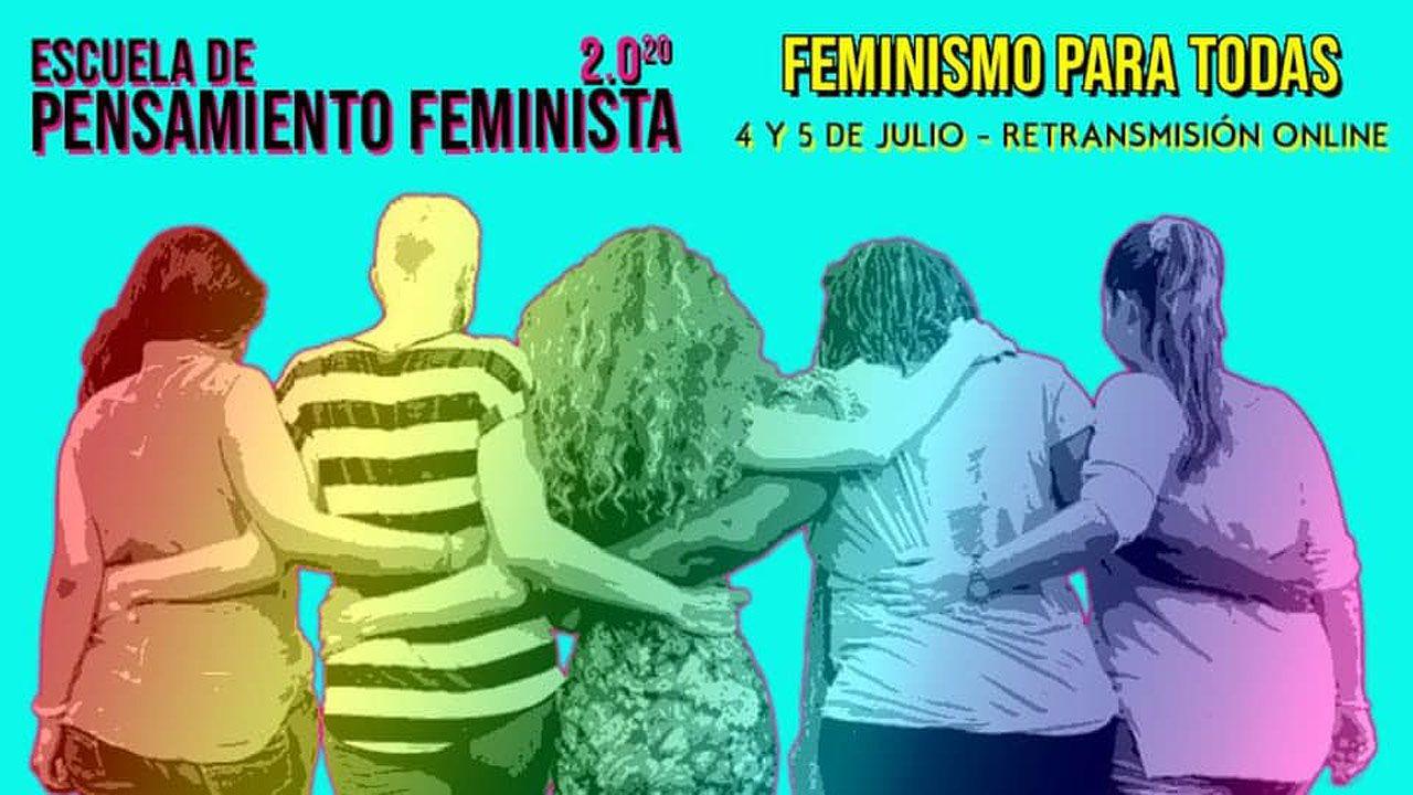 Alberto Ramos, autor de «Eighteen», en una imagen reciente.Cartel de la nueva escuela de pensamiento feminista impulsada por la Asamblea Moza d'Asturies