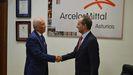 Nicanor Fernández, presidente de la FOA, y Oswaldo Suárez, consejero delegado de ArcelorMittal Asturias