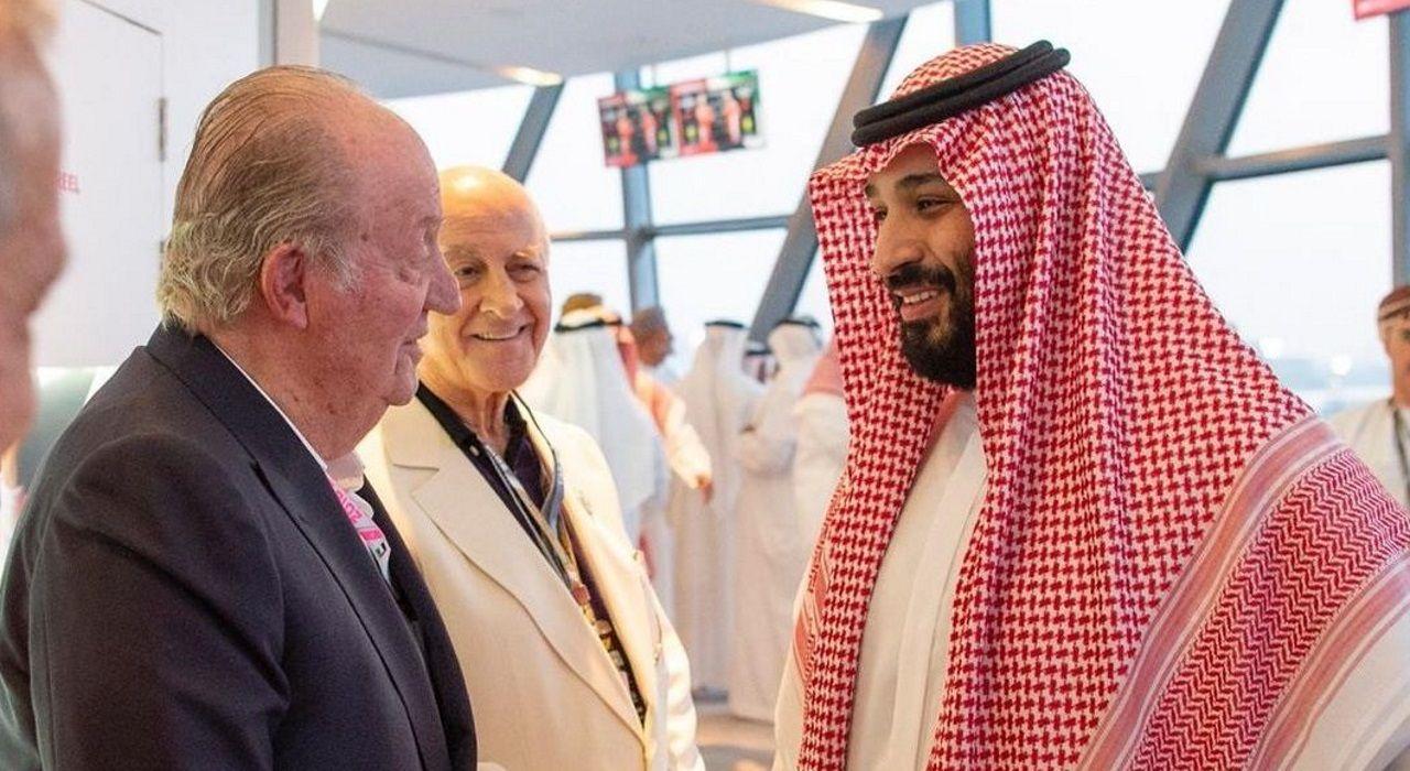 El vínculo pontevedrés de Juan Carlos I con la ría de Pontevedra.Juan Carlos y el príncipe heredero de Arabía, Mohamed bin Salman, en una imagen del 2018