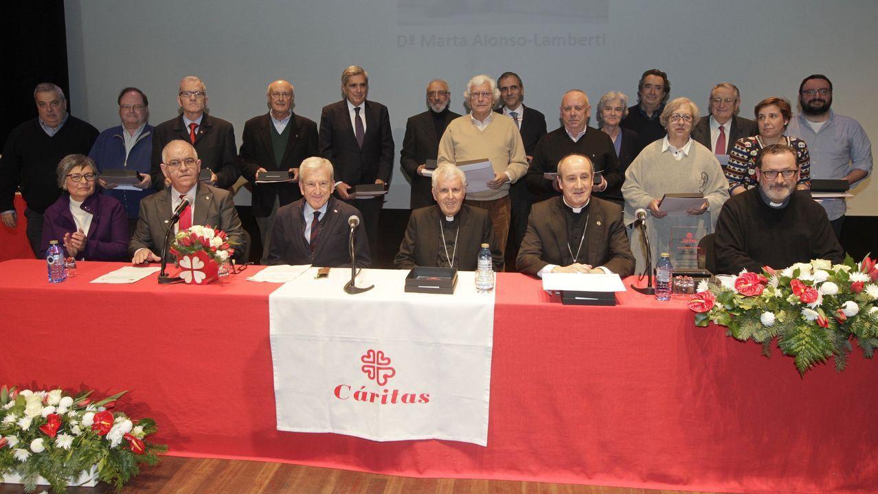 Restricciones en Vigo por el coronavirus.Celebración del 50 aniversario de Cáritas en el pasado mes de enero