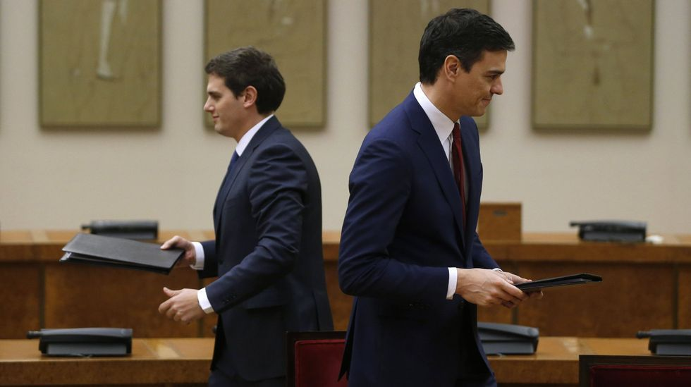 Albert Rivera y Pedro Sánchez.