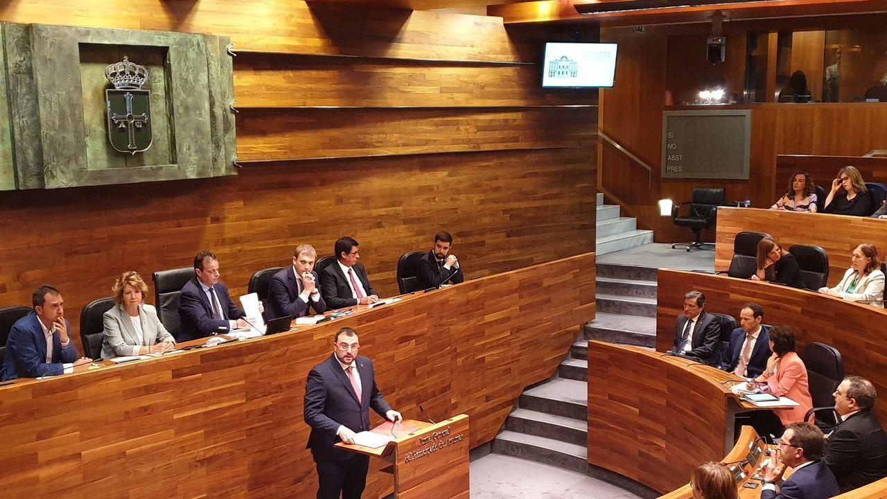 Barbón se proclama nuevo presidente de Asturias.El candidato socialista en Asturias, Adrián Barbón, en una sesión parlamentaria.