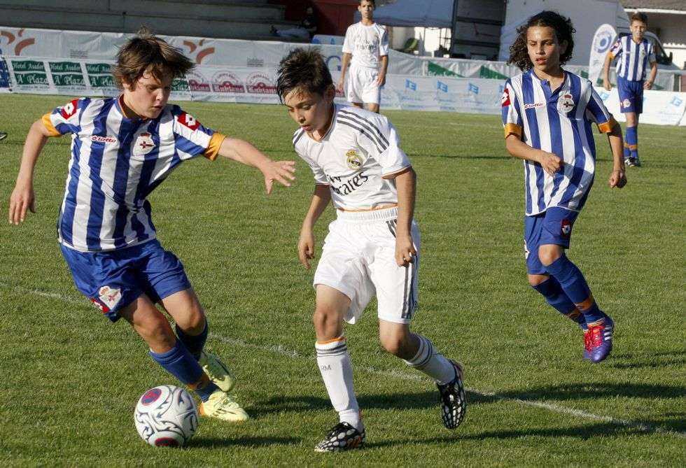 Real Madrid y Deportivo son dos asiduos de la fase final del Arousa Fútbol 7.