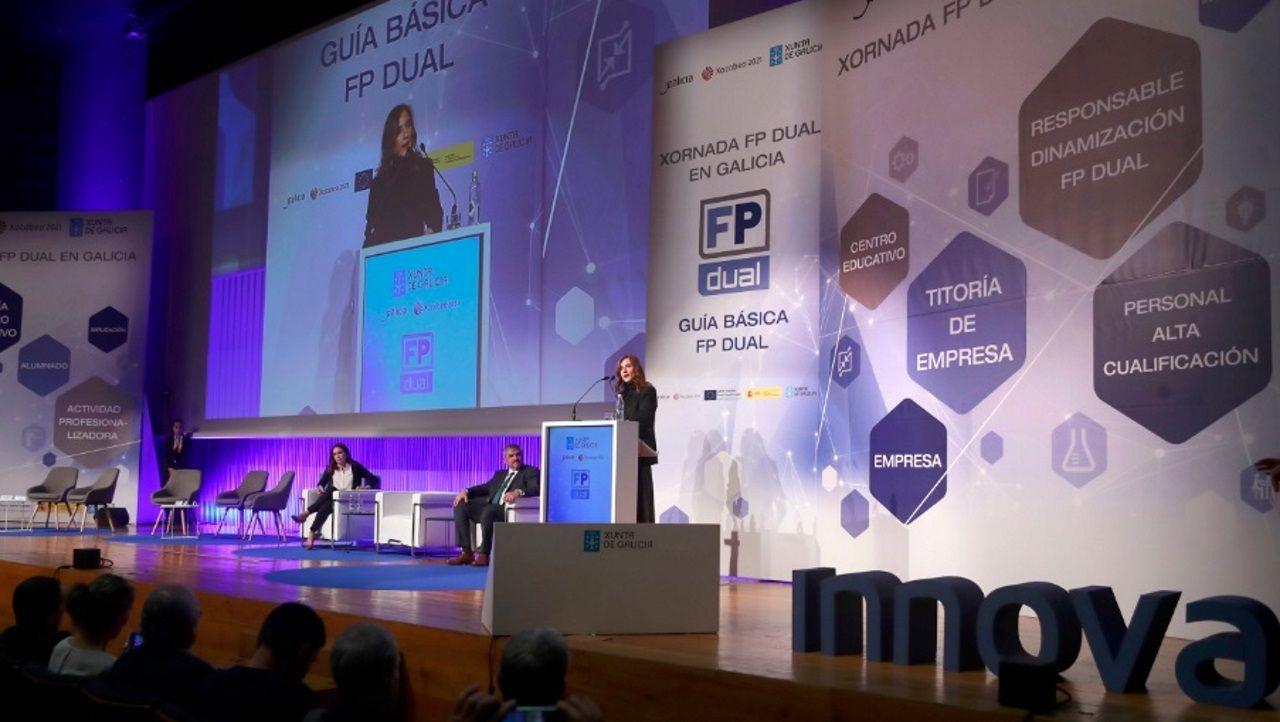 Inauguración de la jornada a cargo de la conselleira de Educaciónn, Carmen Pomar