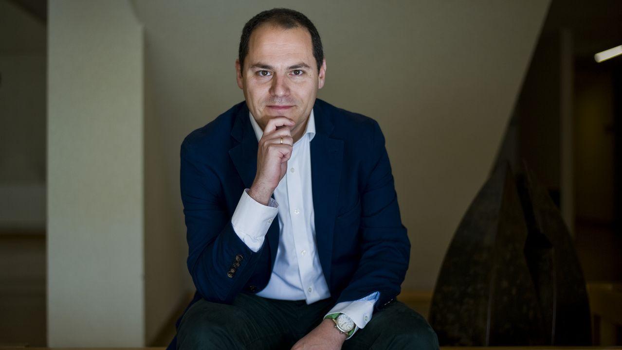 El gallego Jorge L. Vega Valle, subdirector adjunto de estadísticas sociodemográficas del INE, en la facultad de Sociología de la UDC, universidad en la que estudió