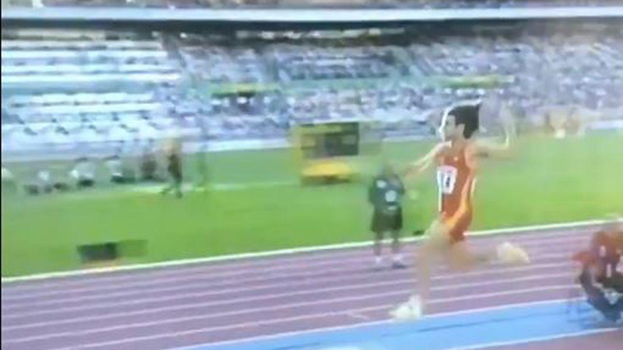 El salto de Yago Lamela que se convirtió en historia del deporte.Pista de atletismo «Yago Lamela»