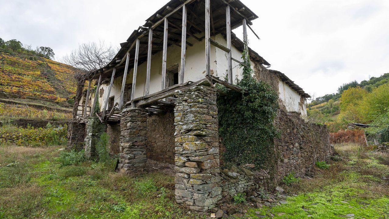 La casa de la Abadía, antigua residencia de los párrocos de Abeleda, está hoy en ruinas