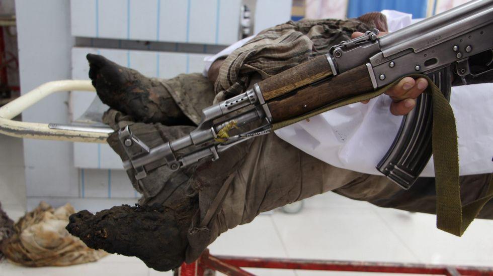 Un afgano que sueña con ser médico.Ayer se inauguró en el Museo Militar una exposición sobre las misiones de paz