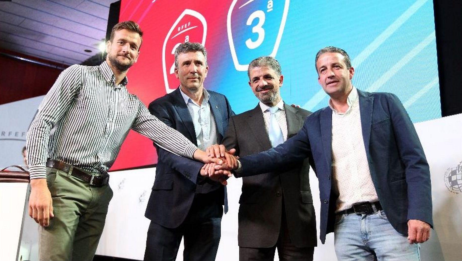 Bergantiños-Villarrubia: ¡las imágenes del trascendental partido!.De izquierda a derecha: Jimmy, Cortina, Borja, Lucas, Steven, Ugarte y Viti