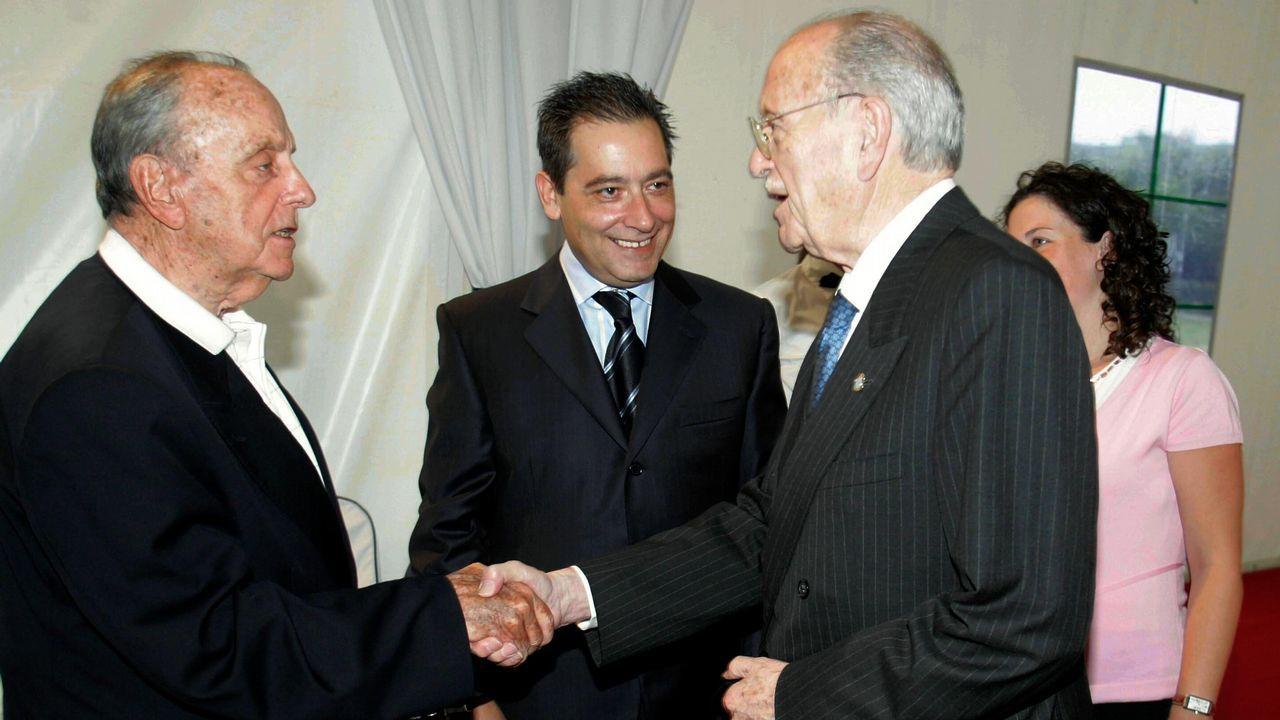 Cena de homenaje al expresidente de la Xunta Manuel Fraga con Gerardo Fernández Albor