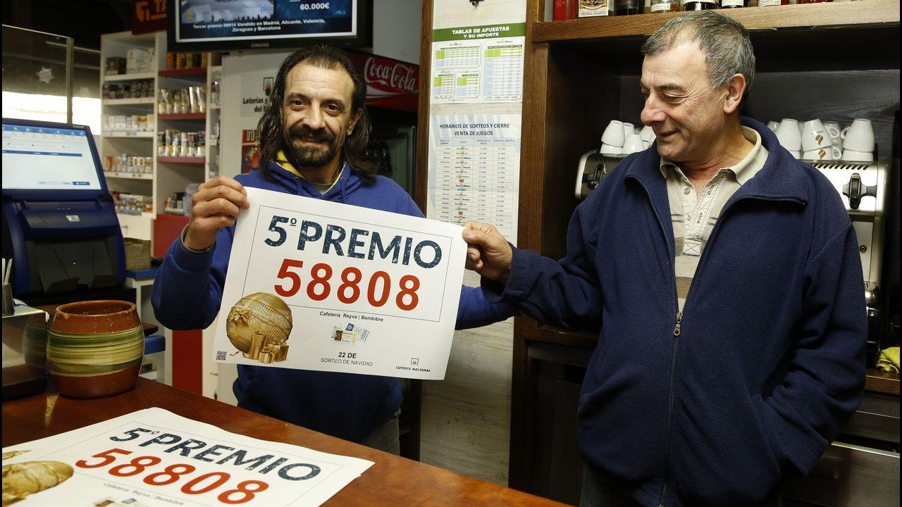 Segundo premio de la Lotería Navidad en Santa Comba