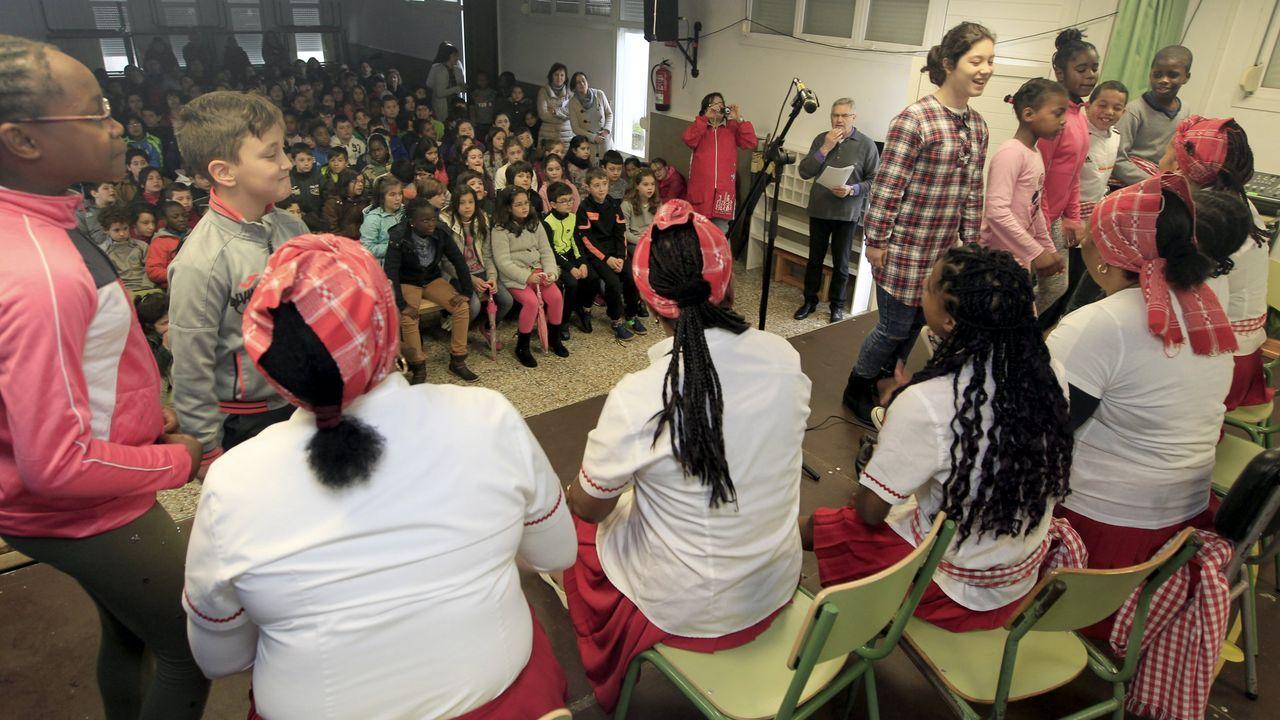Acto en Burela de difusión de la cultura caboverdiana, comunidad inmigrante asentada en A Mariña desde la década de los setenta del siglo XX