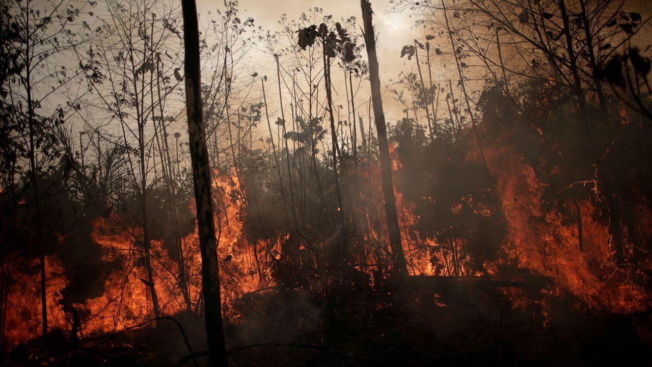 Imagen de los incendios tomada en Porto Velho, Brasil
