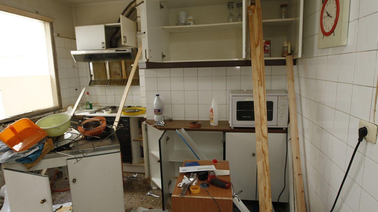 Foto de archivo del estado en que dejó el piso un inquilino que fue desahuciado por impago del alquiler en Vigo