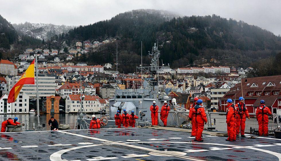 La dotación de los buques con base en Ferrol pudieron conocer la ciudad de Trondheim.