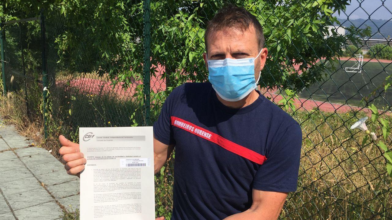 Alfonso Iglesias Rabanal, trabajador del parque de bomberos de Ourense