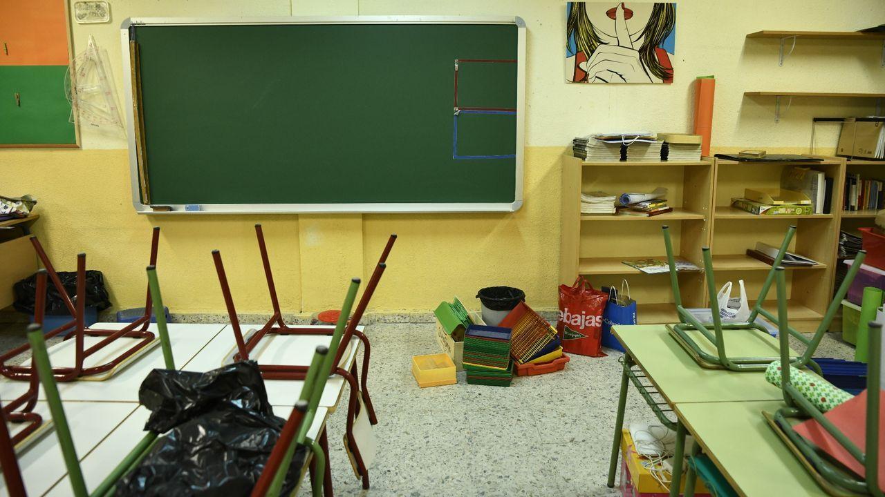 Así fue la emotiva inauguración del nuevo O Pinguel: ¡las imágenes!.Aula de un colegio