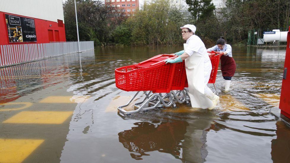 Más imágenes de las inundaciones en Ponteceso.