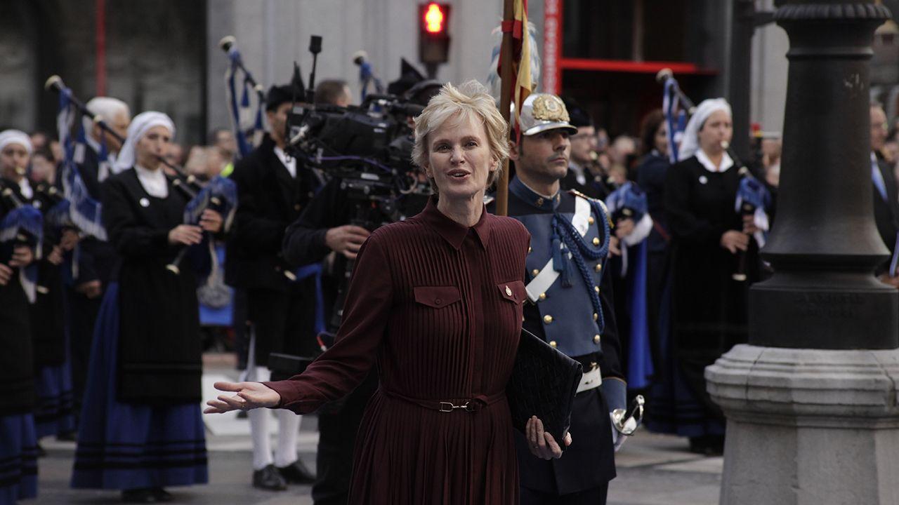 Siri Hustvedt a su llegada al Teatro Campoamor