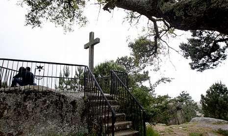 El mirador de A Pastora es muy frecuentado por vecinos y turistas que visitan la villa.