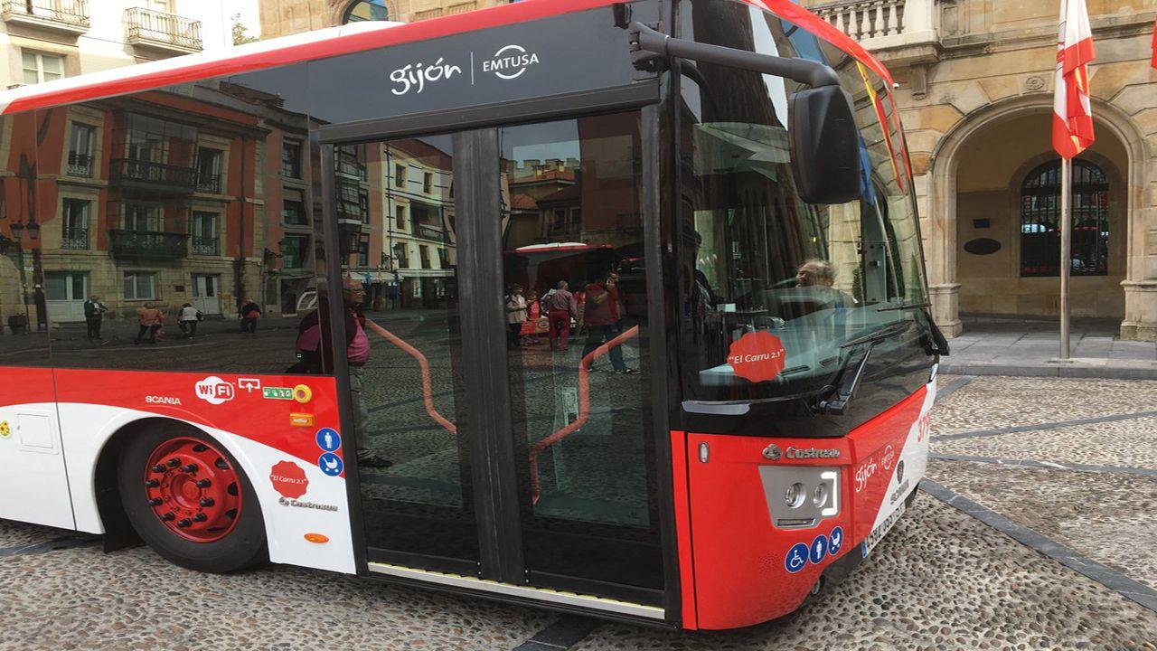 Bus urbano en Gijón