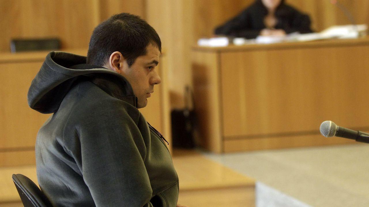 Javier Estrada, durante el juicio en la Audiencia Provincial