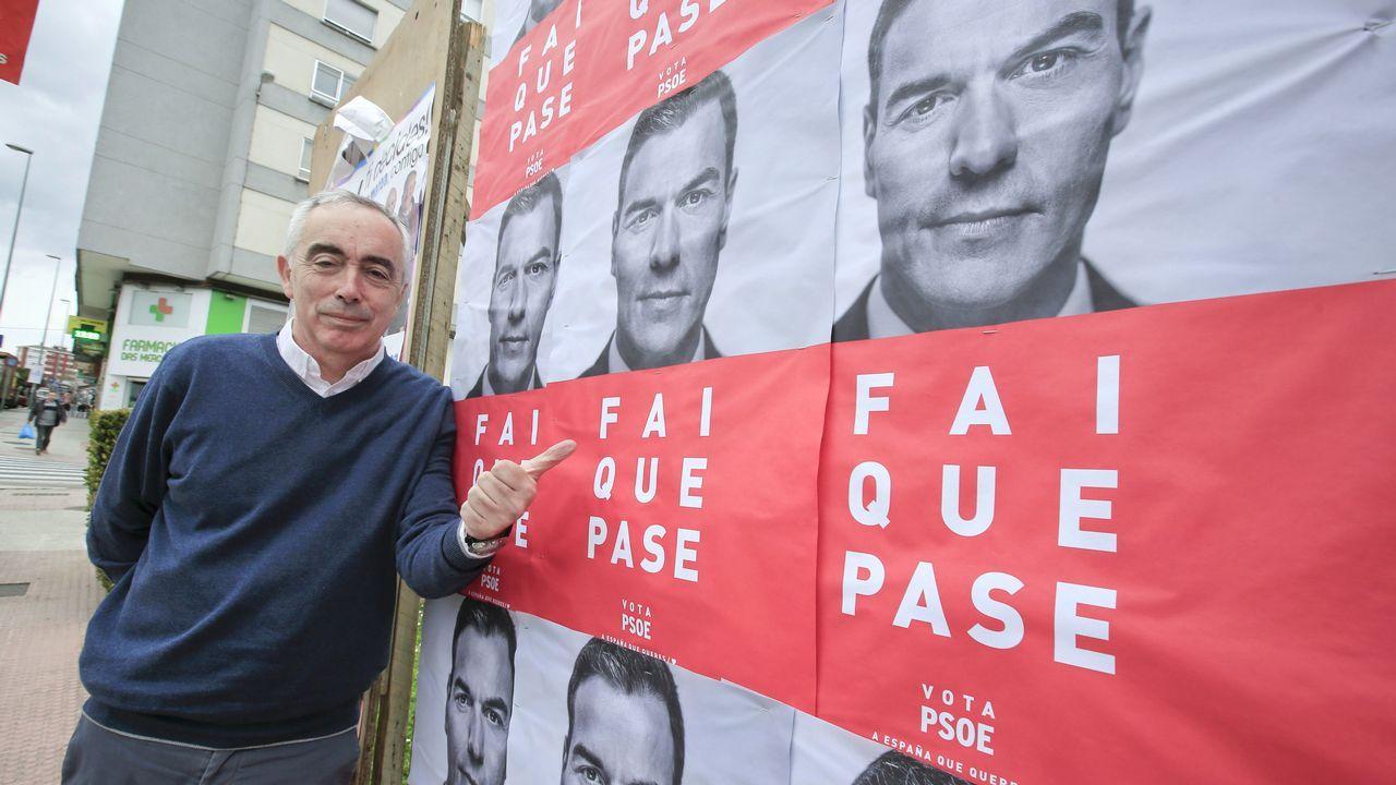 El vídeo de Daniel Ripa sobre la presencia en Asturias de los líderes de la derecha en campaña.Alfonso Guerra