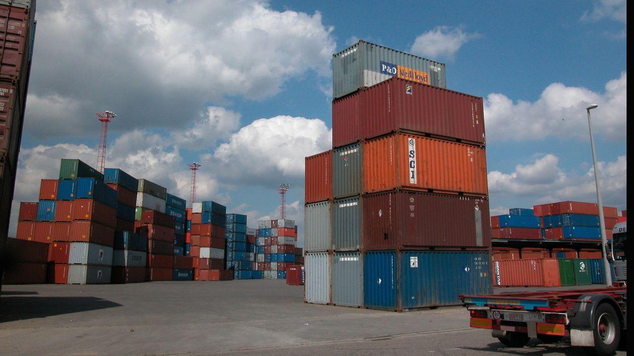 Imagen de contenedores de exportación