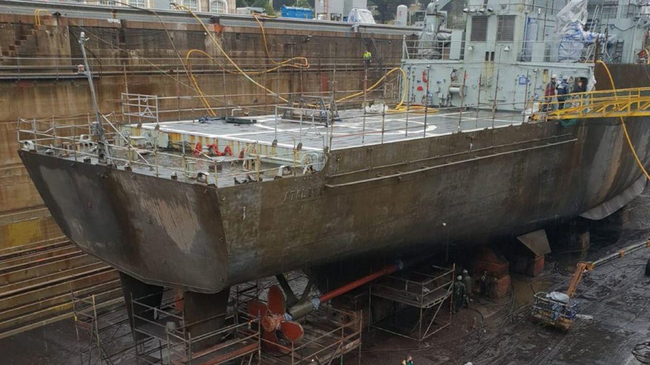 Estado de las reparaciones a finales de noviembre en el dique de Navantia