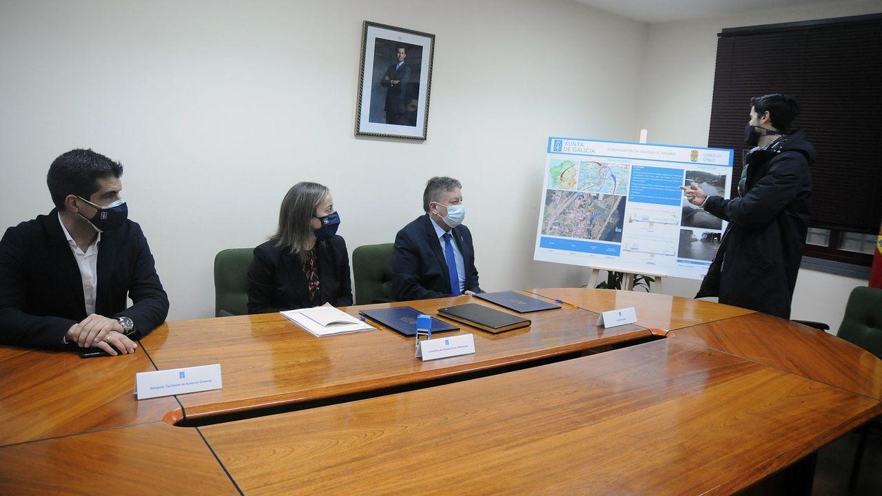 El Calvo Xiria-Carnes do Ribeiro, en imágenes.Firma del convenio entre el Concello de Cenlle y la Consellería de Infraestruturas