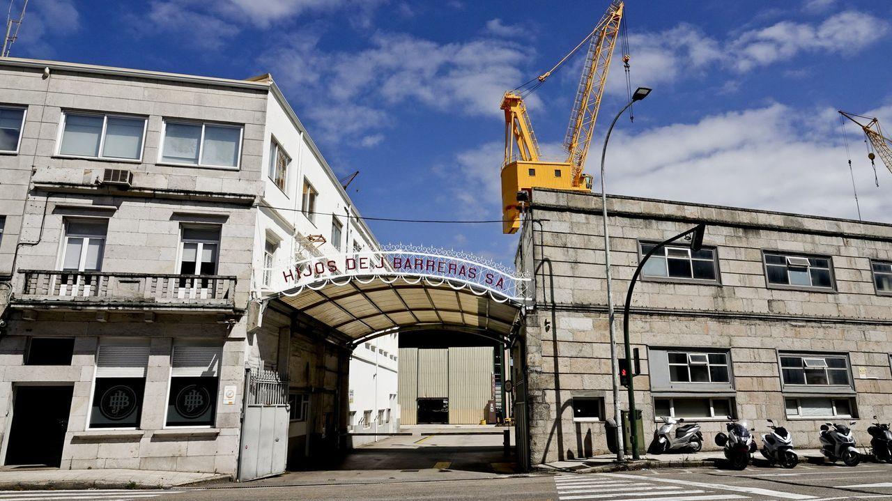Manifestación de los trabajadores de la planta de Servia en Porto do Son.Astillero Barreras