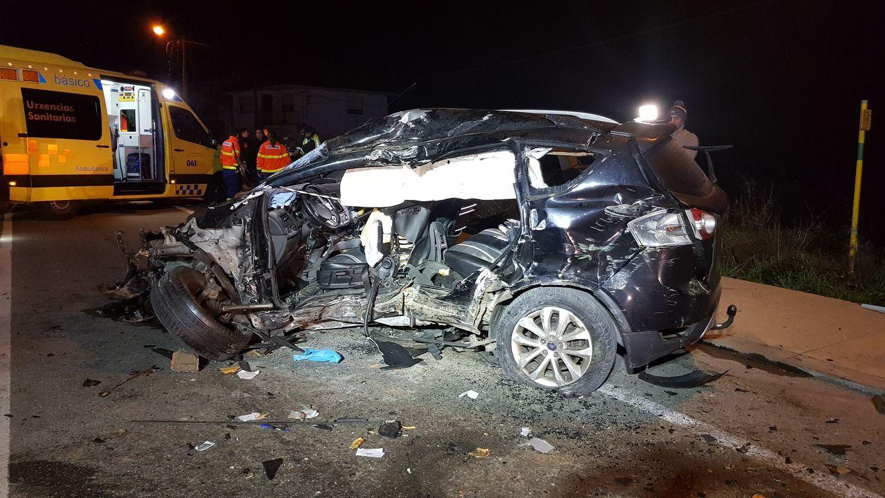 2019, el año con menos muertos con accidentes de tráfico.Así quedó el coche implicado en el último accidente mortal en Galicia