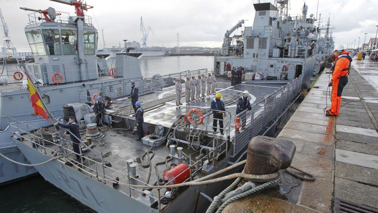 Así se reflota la fragata noruega Helge Ingstad.Uno de los ejercicios de la F-103 con un buque de la Marina francesa