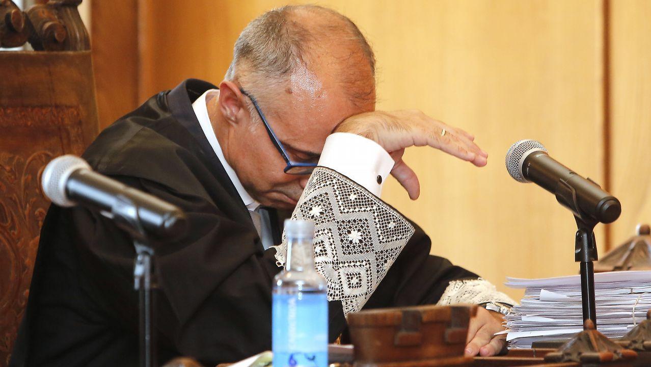 El fiscal Alejandro Pazos, el pasado jueves tras conocerse el veredicto del jurado