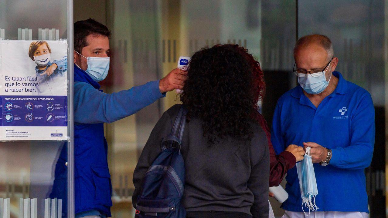 Ensino Campus promete.Control de temperatura en la entrada de hospitalización del Hospital Universitario Central de Asturias (HUCA)