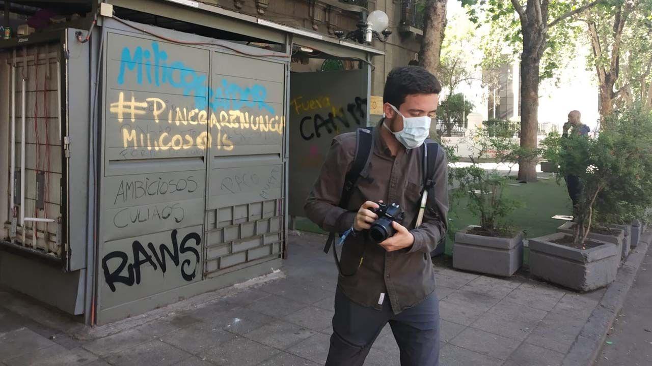 Un asturiano en mitad de las protestas de Chile.Protestas en Chile