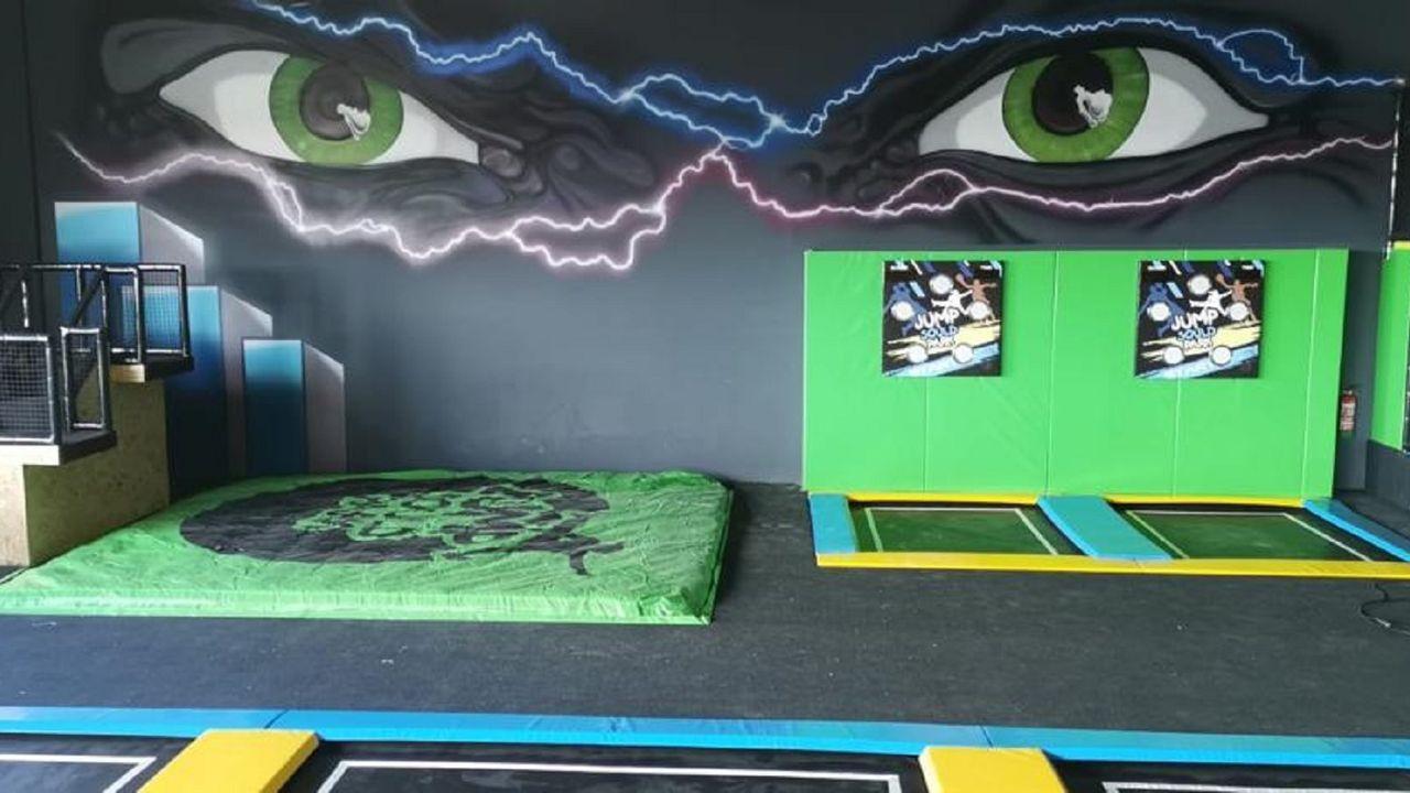 Sould Park adaptará la estética del parque de camas de Odeón a su imagen corporativa. En la fotografía, el Sould Park Jump de Zazagoza