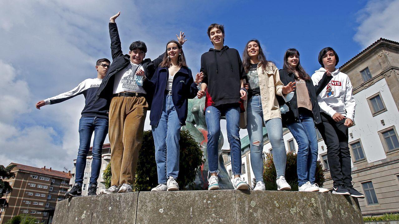 Jorge Pintos, Mario Blanco, Sara Varela, Paula Domínguez, Sara Fernández, Celtia Castelo y Brais Rodríguez, los mejores de la ABAU de los institutos de Pontevedra