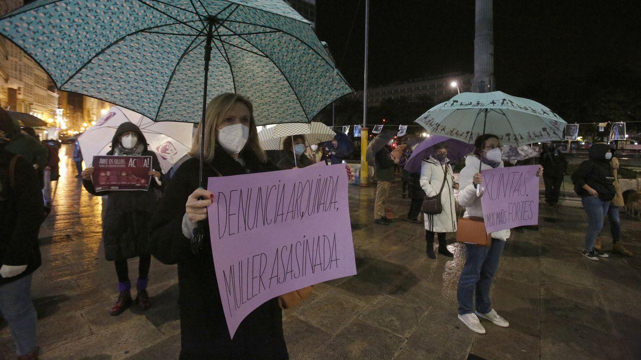 25N en A Coruña: «A violencia machista aumentou coa pandemia».Ana Hermida estuvo ayer en el CEIP de Caión. La imagen, de archivo, es anterior a la pandemia