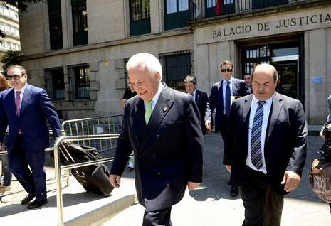 Baltar, a su salida de una de las sesiones del juicio que se celebró el pasado mes de julio.