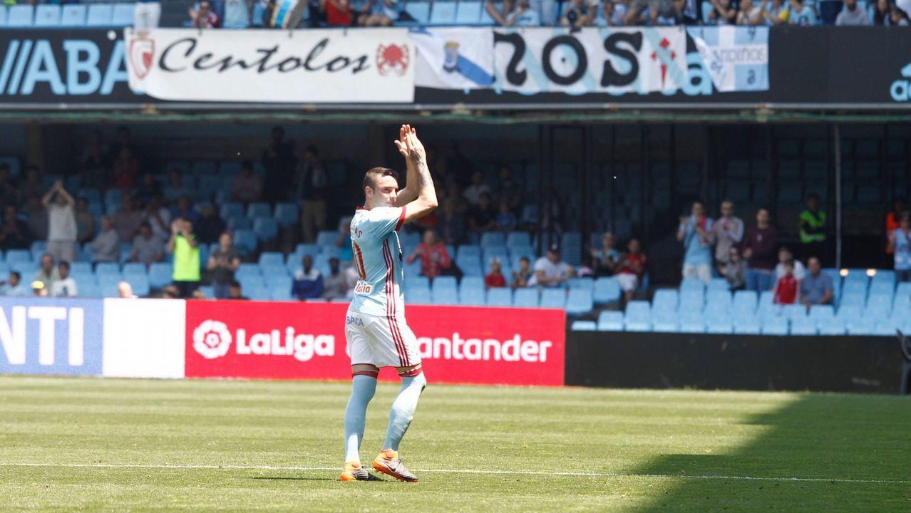 Celta-Levante (4-2) el 19 de mayo del 2018. Doblete de Aspas