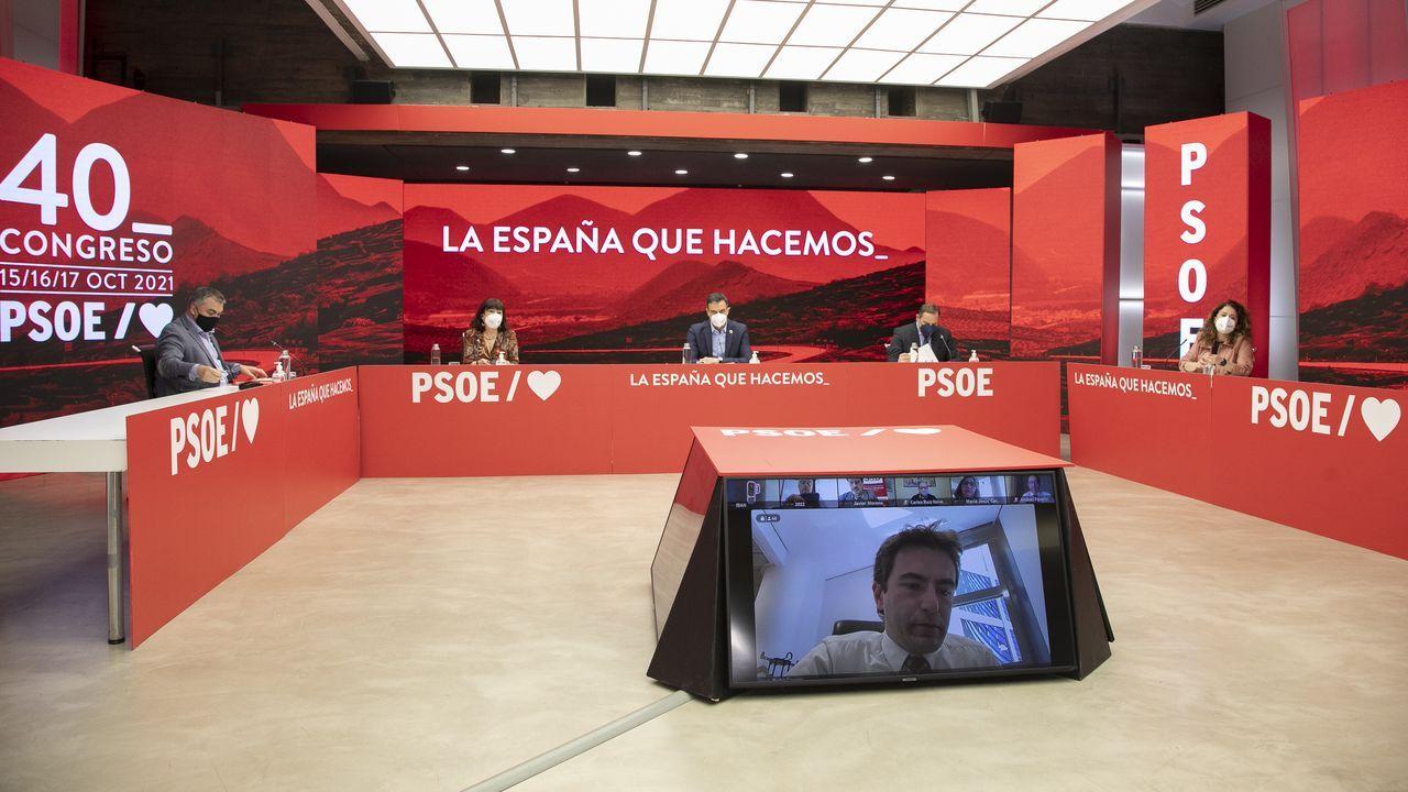 El líder del PSOE, Pedro Sánchez, presidió la reunión de la ejecutiva federal celebrada  este jueves en Madrid