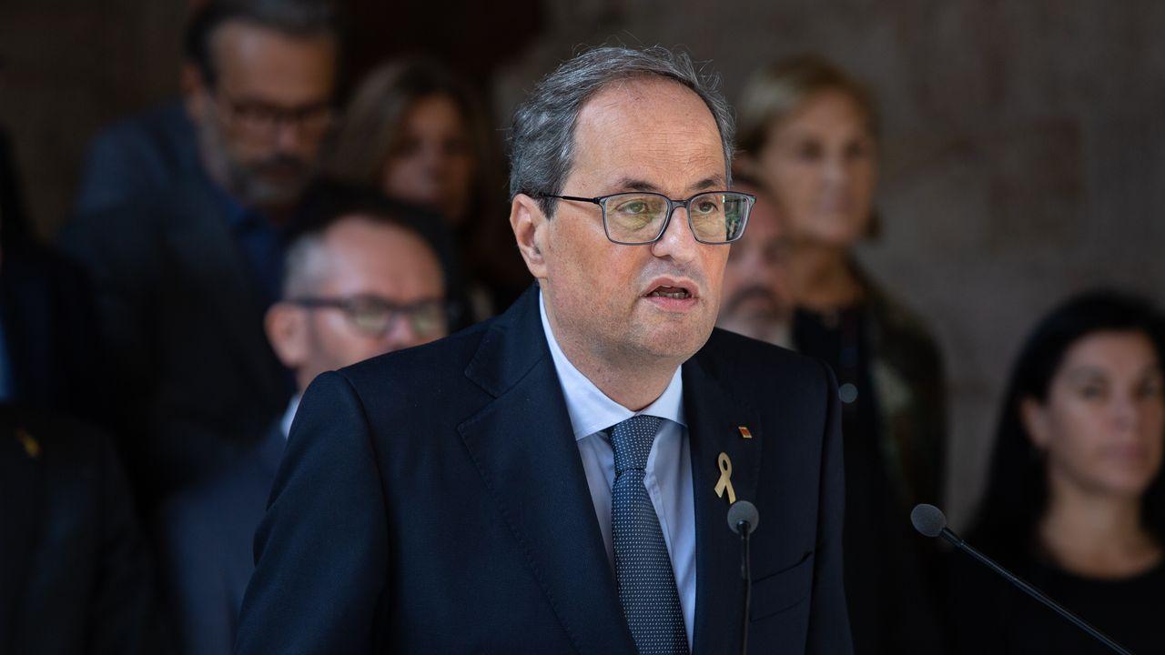 Manuel Marchena, este miércoles, antes de comparecer ante el Consejo General del Poder Judicial para renovar su cargo como presidente de la Sala Segunda del Tribunal Supremo