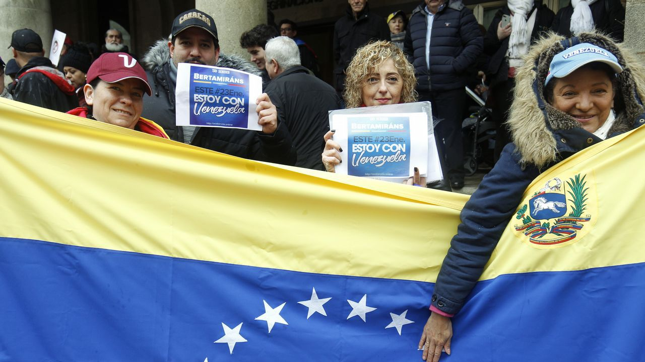 La comunidad venezolana también salió a la calle en Santiago
