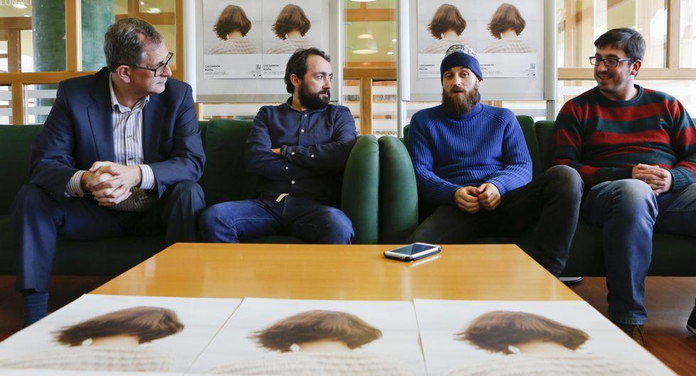 Ferrero, Gende, Vecino e Trigo, onte na presentación do novo disco de Chicharrón.